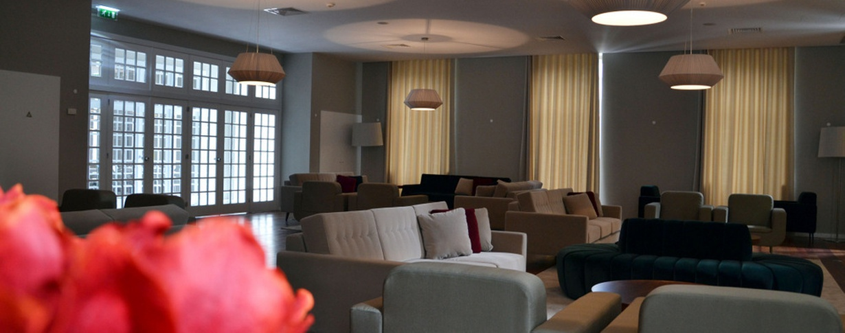Living room do Parque Hotel en Braga